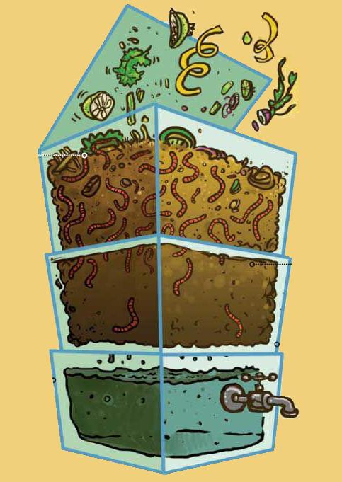 Huerto urbano sur como hacer una compostera de lombriz - Como hacer compost en casa ...