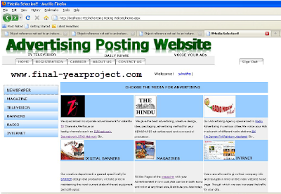 Advertisement Posting Website