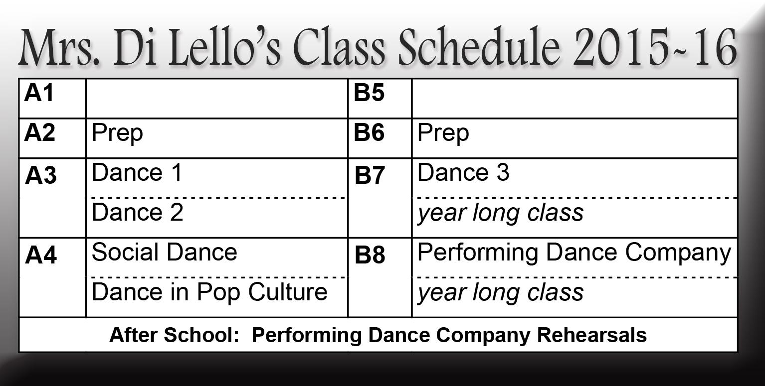 Mrs. Di Lello's Schedule