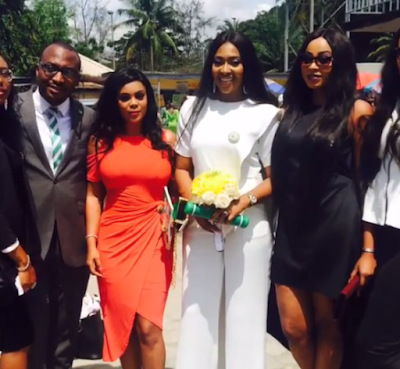 Lilian Esoro and Husband Ubi Franklin wed at Ikoyi Registry 1