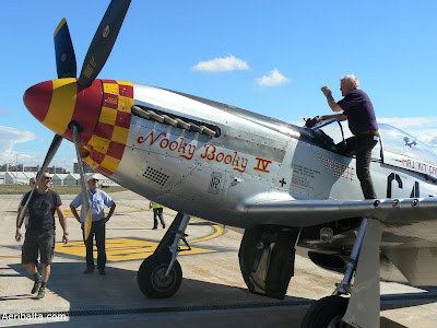 North American P-51D Mustang and the pilot Marc Mathis.