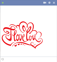 I Love You Facebook Sticker