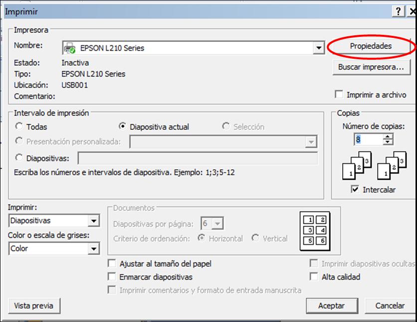 Impresora Epson L210 que no imprime un color | Rincón Distraccion