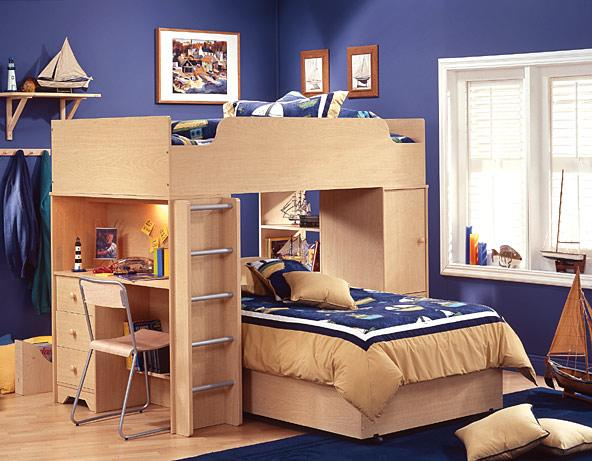 Desain Rumah Minimalis Modern: Children Bedroom With Bunk Beds