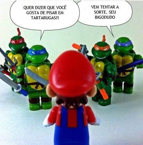 mario apuros ameaca tartarugas ninjas