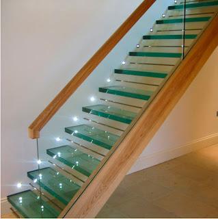 Modern Homes Glass Steps Designs Ideas