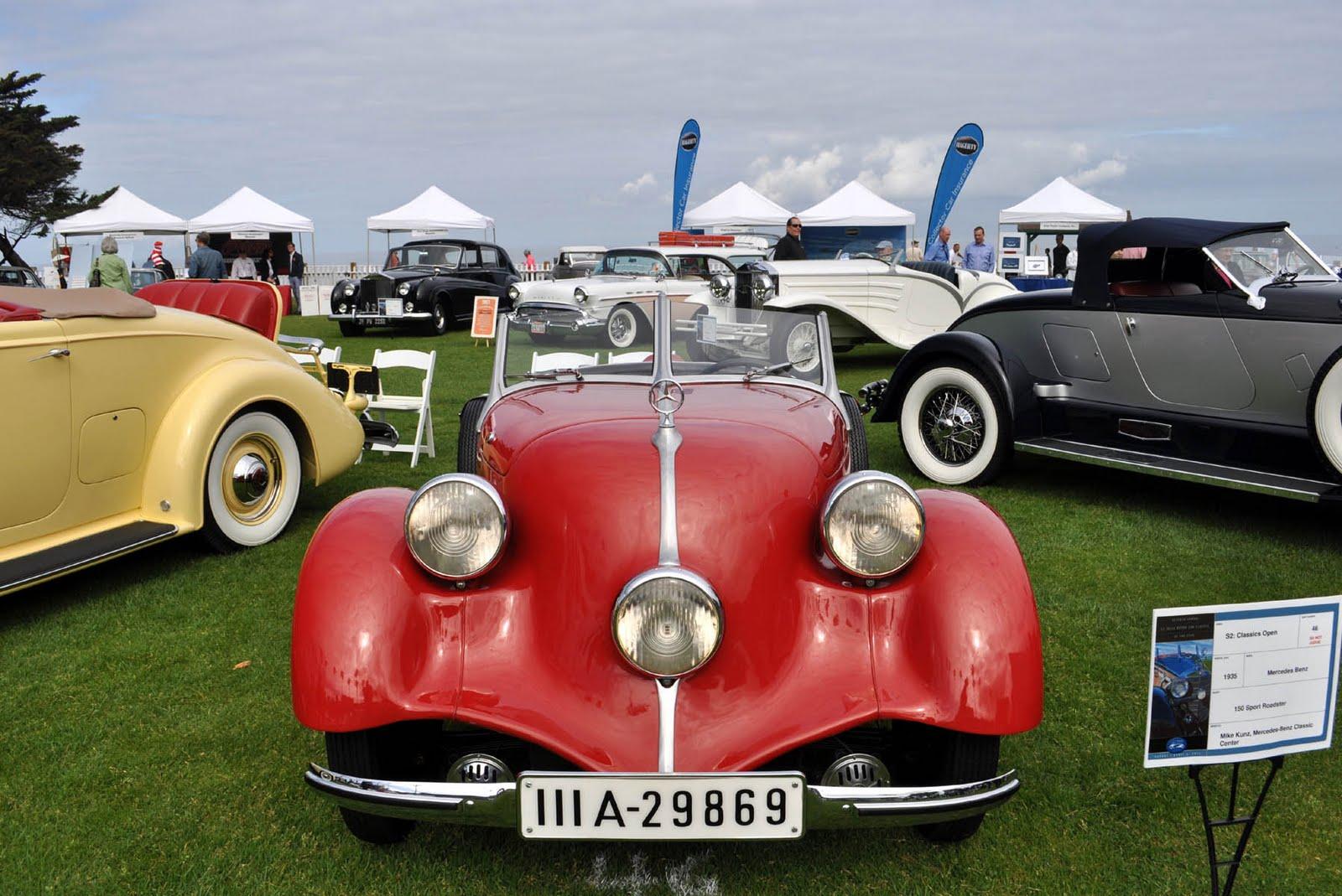 Just a car guy 1934 150 sport roadster mercedes benz one for Mercedes benz classic car center