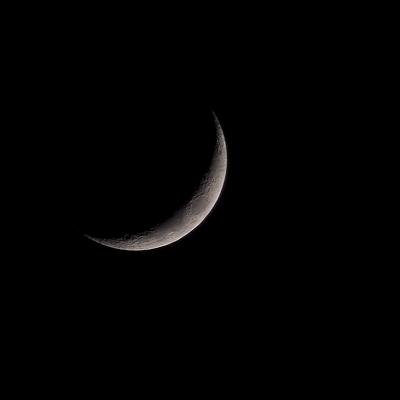 14% crescent moon