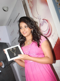 Anjali looks super cute in a pink dress at prince jewelry launch