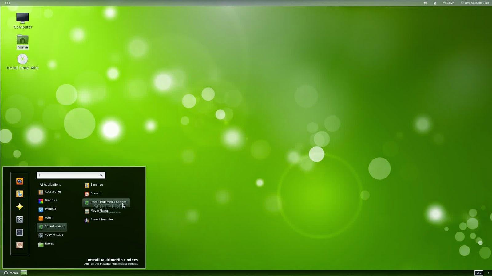 Tampilan Linux Mint