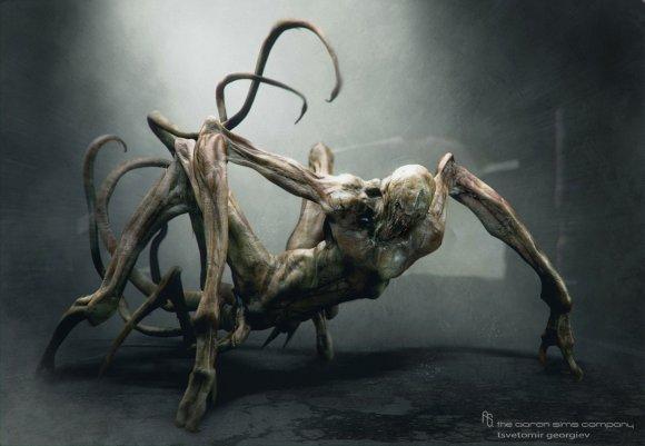 Tsvetomir Georgiev ilustrações artes conceituais e modelos 3D filmes A coisa