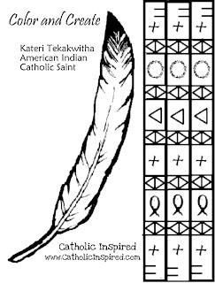 Blessed Kateri Tekakwitha Play And Crafts Catholic
