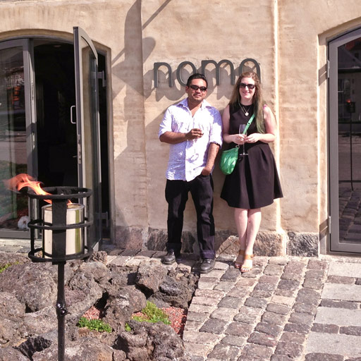 Omid & Alannah at Noma, Copenhagen