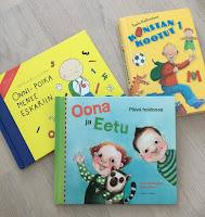 Kirjoja päiväkodin, esikoulun tai koulun aloittajille