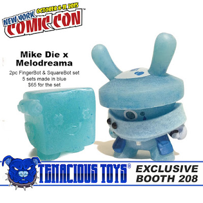 New York Comic Con 2015 Exclusive FingerBot & SquareBot Resin Figure Set by Mike Die x Melodreama