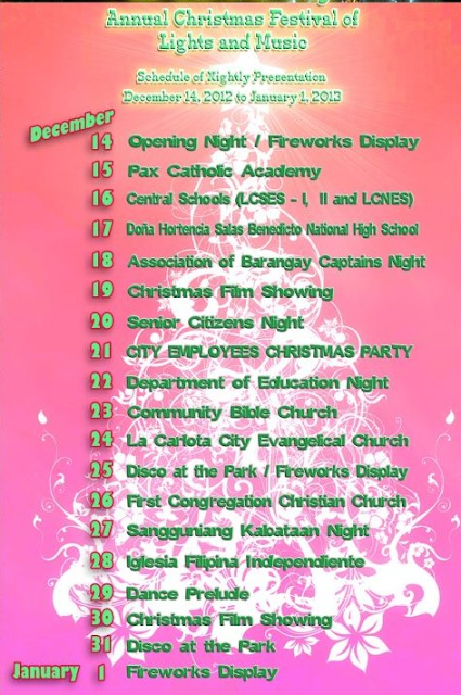 schedule of festival of lights nightly show