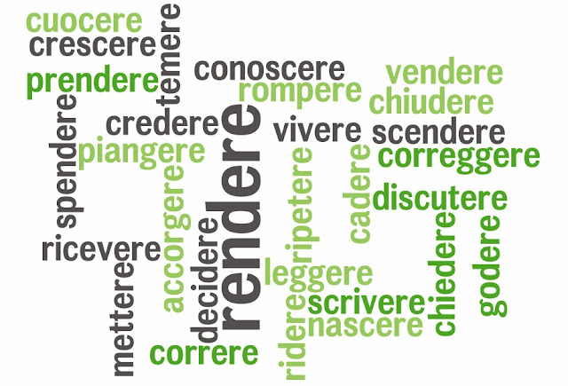 Italian -ERE verbs, all regular in present tense by ab for didattichiamo.blogspot.com