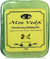 Aloe Veda Soap Review Jojoba Oil with GreenTea Extracts
