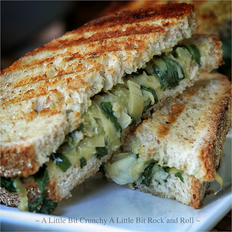 ... Little Bit Rock and Roll: Spinach Artichoke and Hummus Grilled Panini