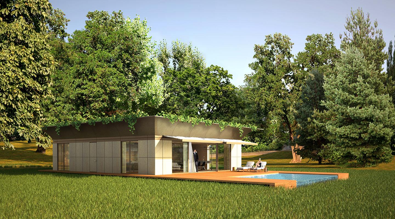 modern prefab modular homes prefabium. Black Bedroom Furniture Sets. Home Design Ideas