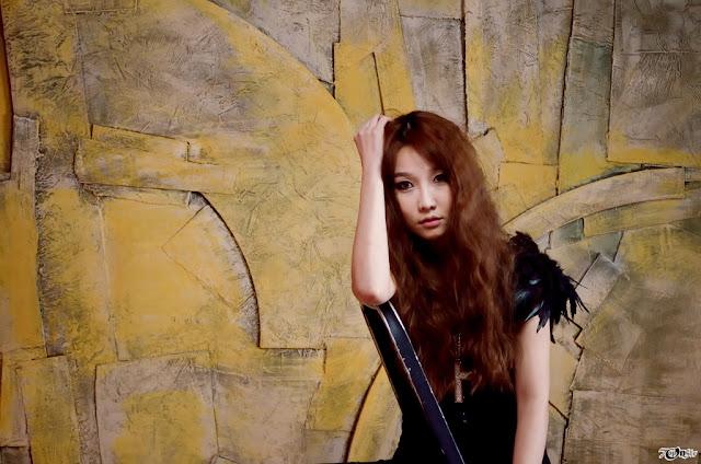 1 Go Jung Ah in Black - very cute asian girl - girlcute4u.blogspot.com
