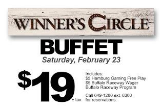 Enjoy the Winner's Circle Buffet