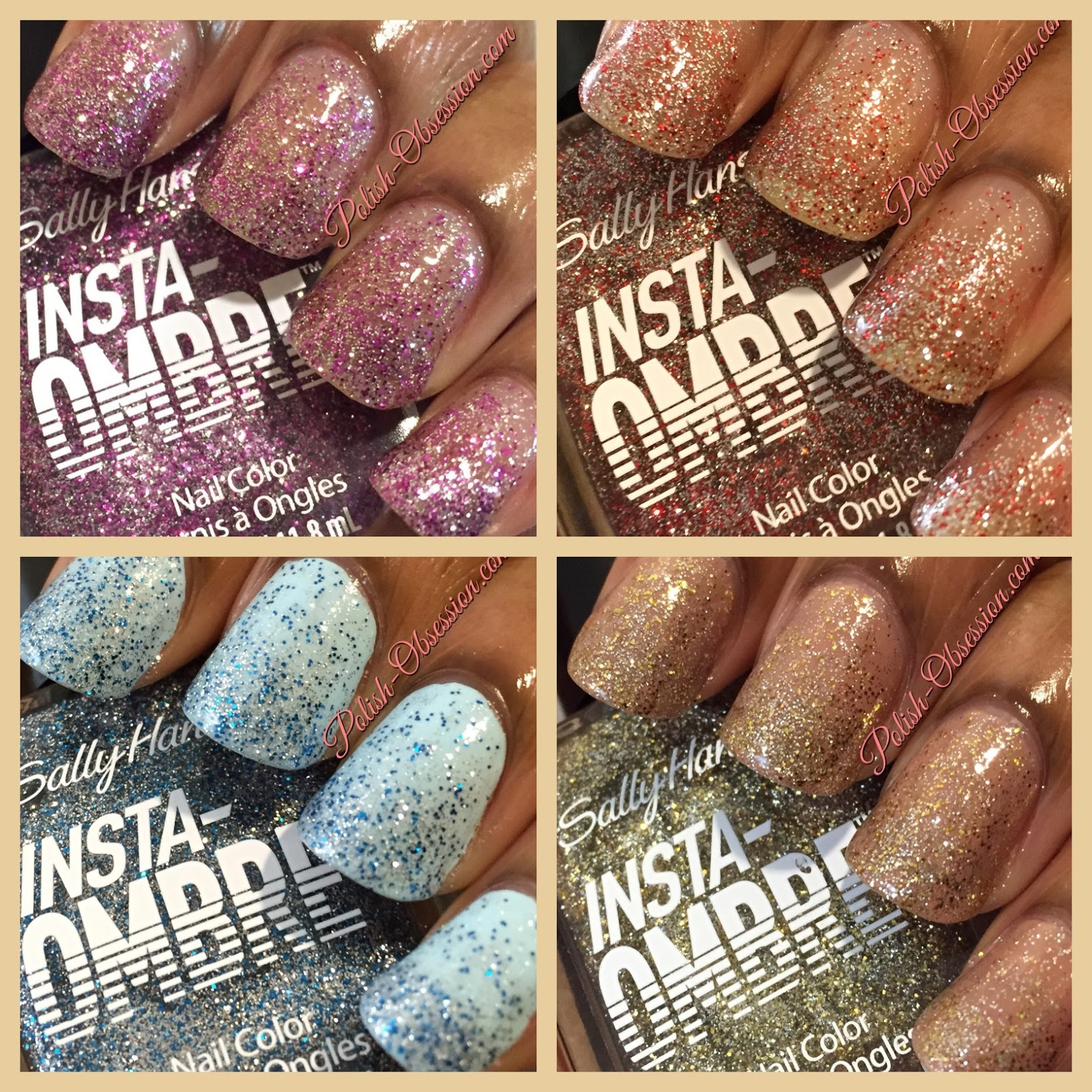 Sally Hansen Insta-Ombre Swatches & Review   Polish Obsession