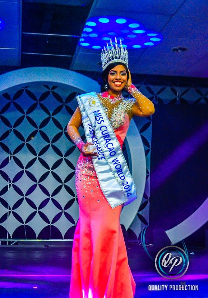 Miss Curacao Curaçao World 2014 winner Gayle Sulvaran