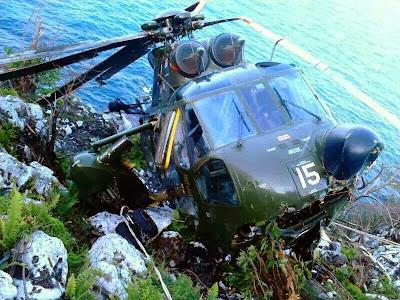 Helikopter Nuri Terhempas di Pulau Perak