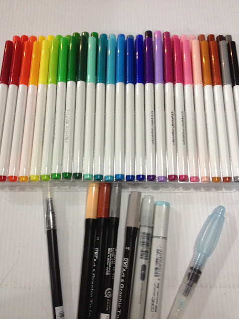Alcoholbased Waterbased WatercolorA Quick Overview Nattosoup - Tombow abt markers