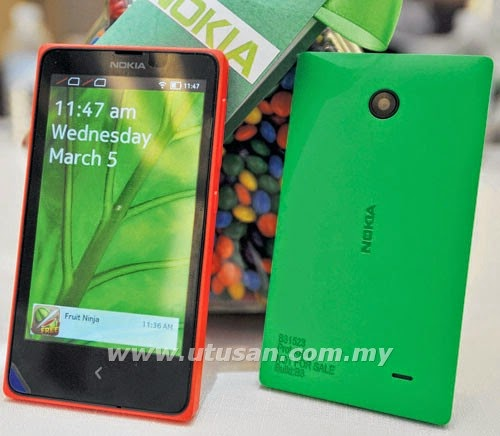 Harga Nokia X RM399, GAMBAR Nokia X, spesifikasi Nokia X