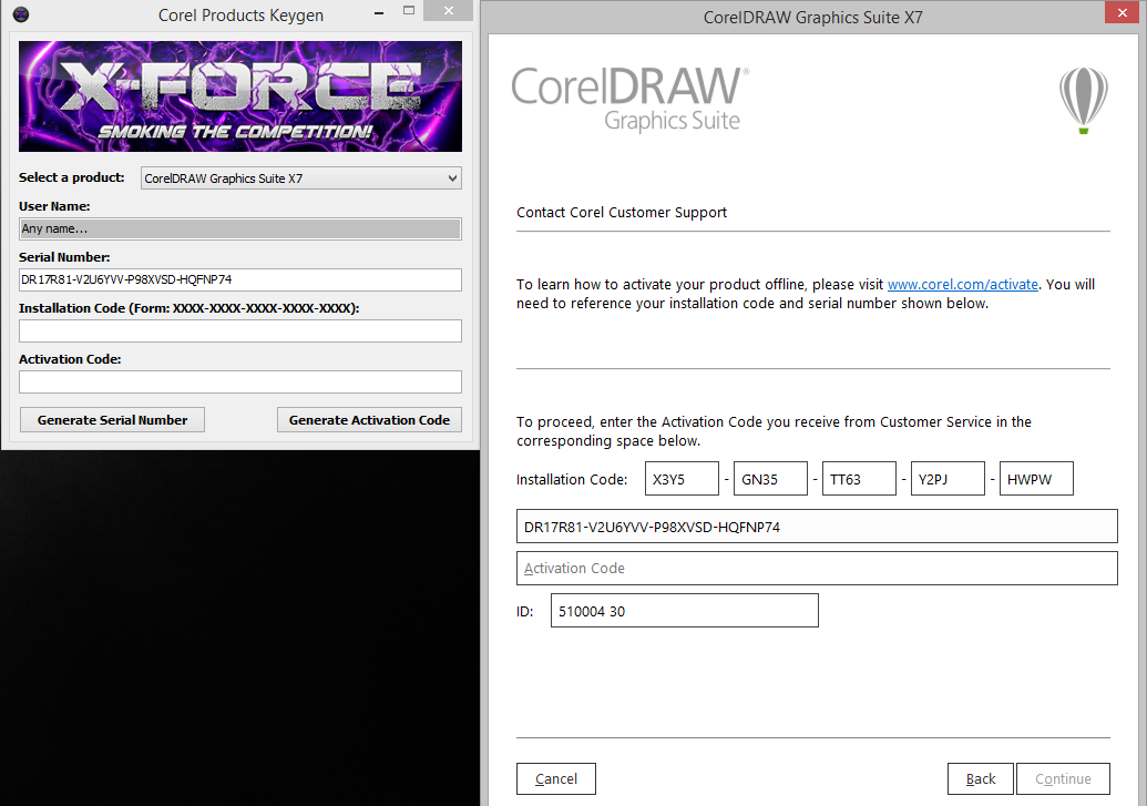 corel draw x8 keygen activation code