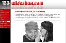 Crear presentaciones en flash online: 123-Slideshow