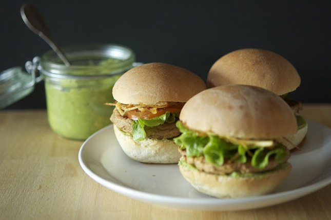 Tofu Sliders WIth Guacamole