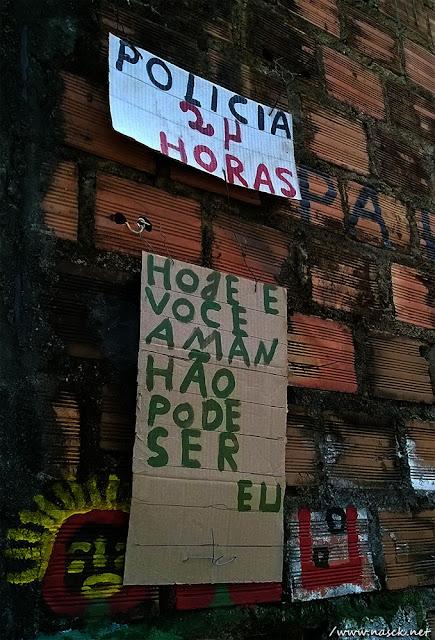 Arte de Rua Hoje é Você amanhã pode ser Eu em Sete de Abril Salvador/Bahia