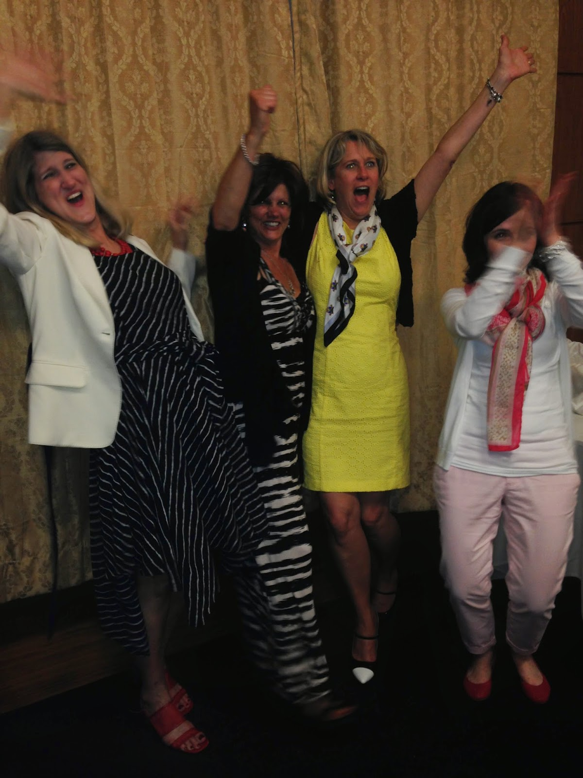 excited West Point moms on graduation day