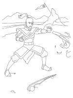 Mewarnai Gambar Pangeran Zuko Saat Menyerang Kerajaan Air Utara