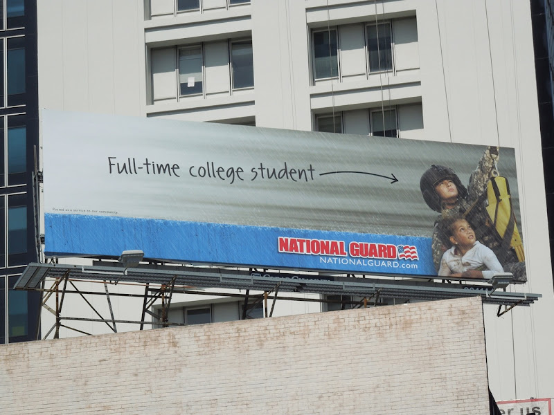 National Guard student billboard