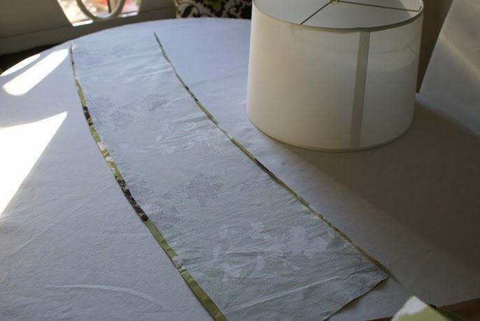 diy une housse pour abat jour initiales gg. Black Bedroom Furniture Sets. Home Design Ideas