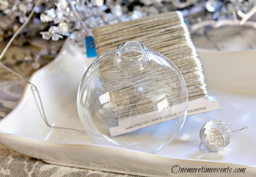supplies need to create a finial glass ornament at One More Time Events.com