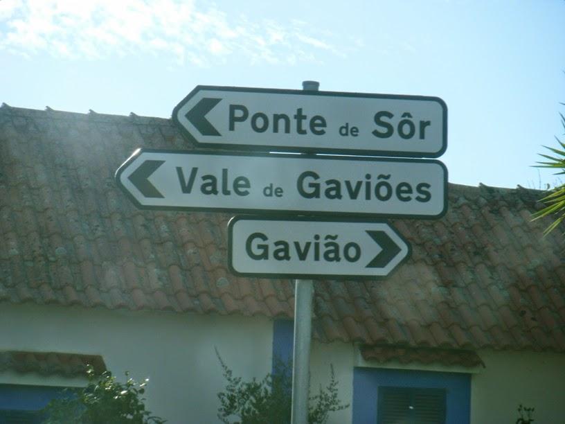 Sinalização de Ponte de Sor, Vale de Gaviões e Gavião