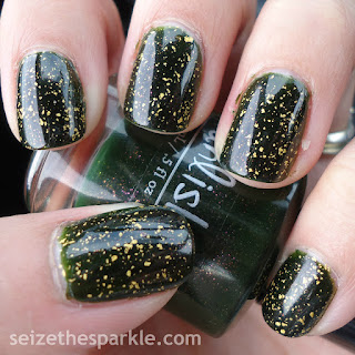 Green and Gold Manicure