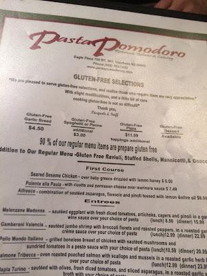 Pasta Pomodoro Voorhees NJ