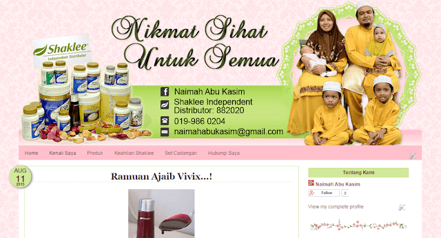 edit/design/customize blog murah, maisarahsidi.com
