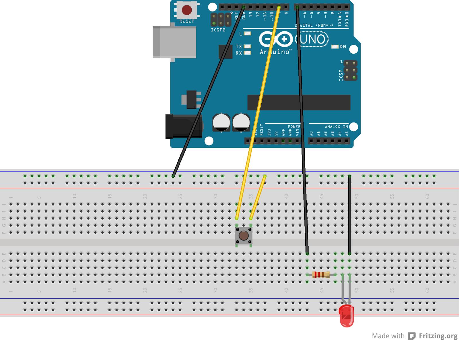 Rafa java arduino e claro linux ligar led com botao