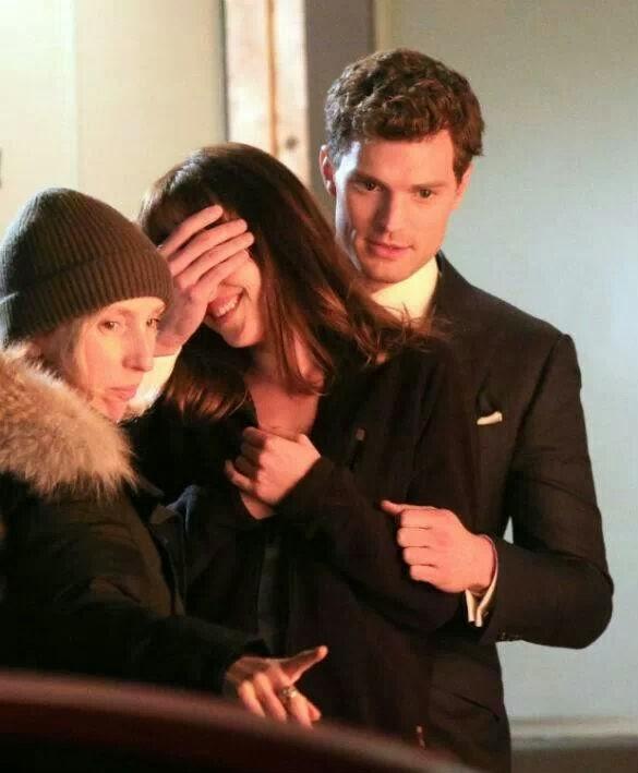 Christian y Anastasia de 50 Sombras de Grey