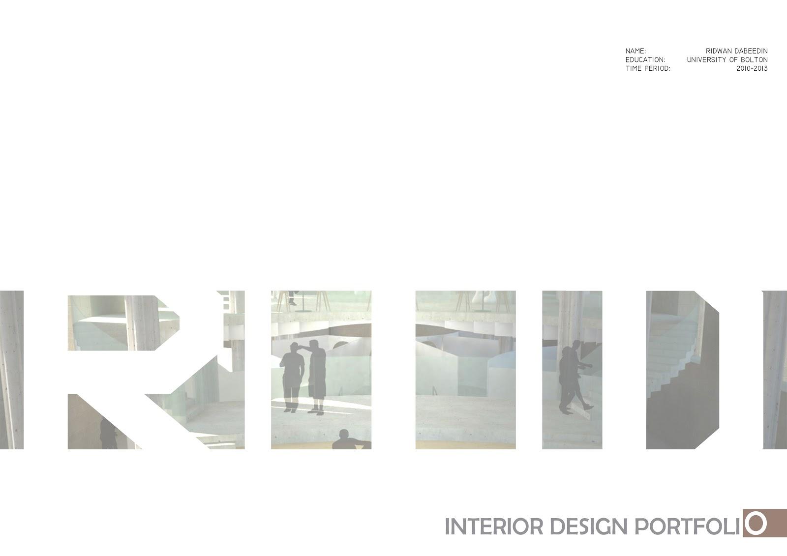 The gallery for interior design digital portfolio examples for Interior design portfolio cover