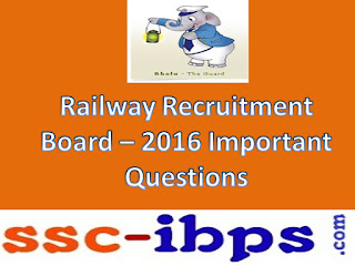 RRB ASM, GOODS GUARD Exam-2016 Important Bits