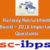 RRB ASM, GOODS GUARD Exam-2016 Important Bits.