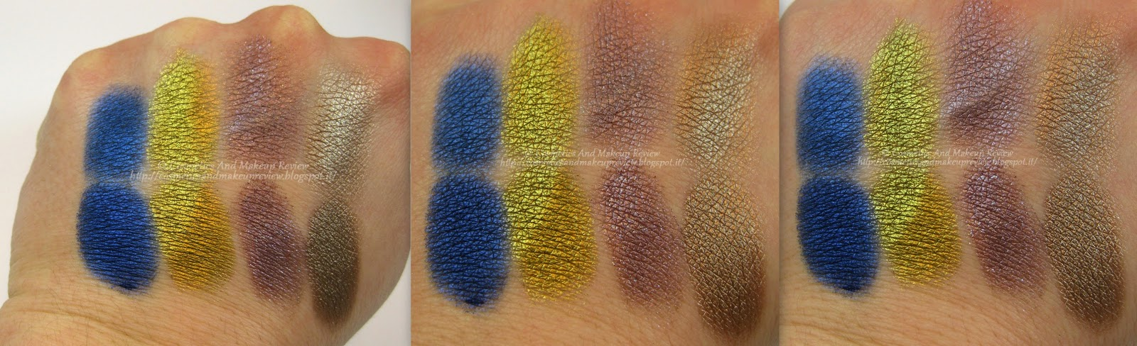 Nabla Cosmetics - Genesis Collection - swatches Eternity - Citron - Superposition - Sandy